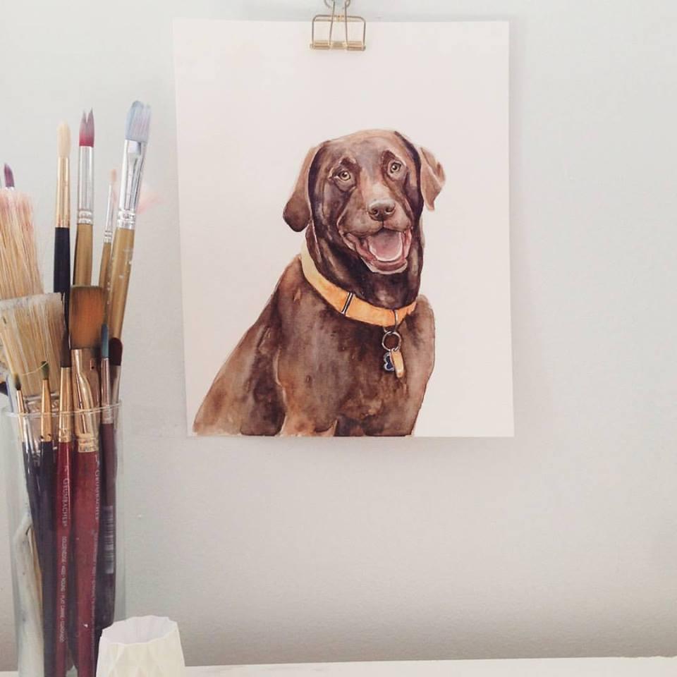dog watercolor | ampersandmother.com