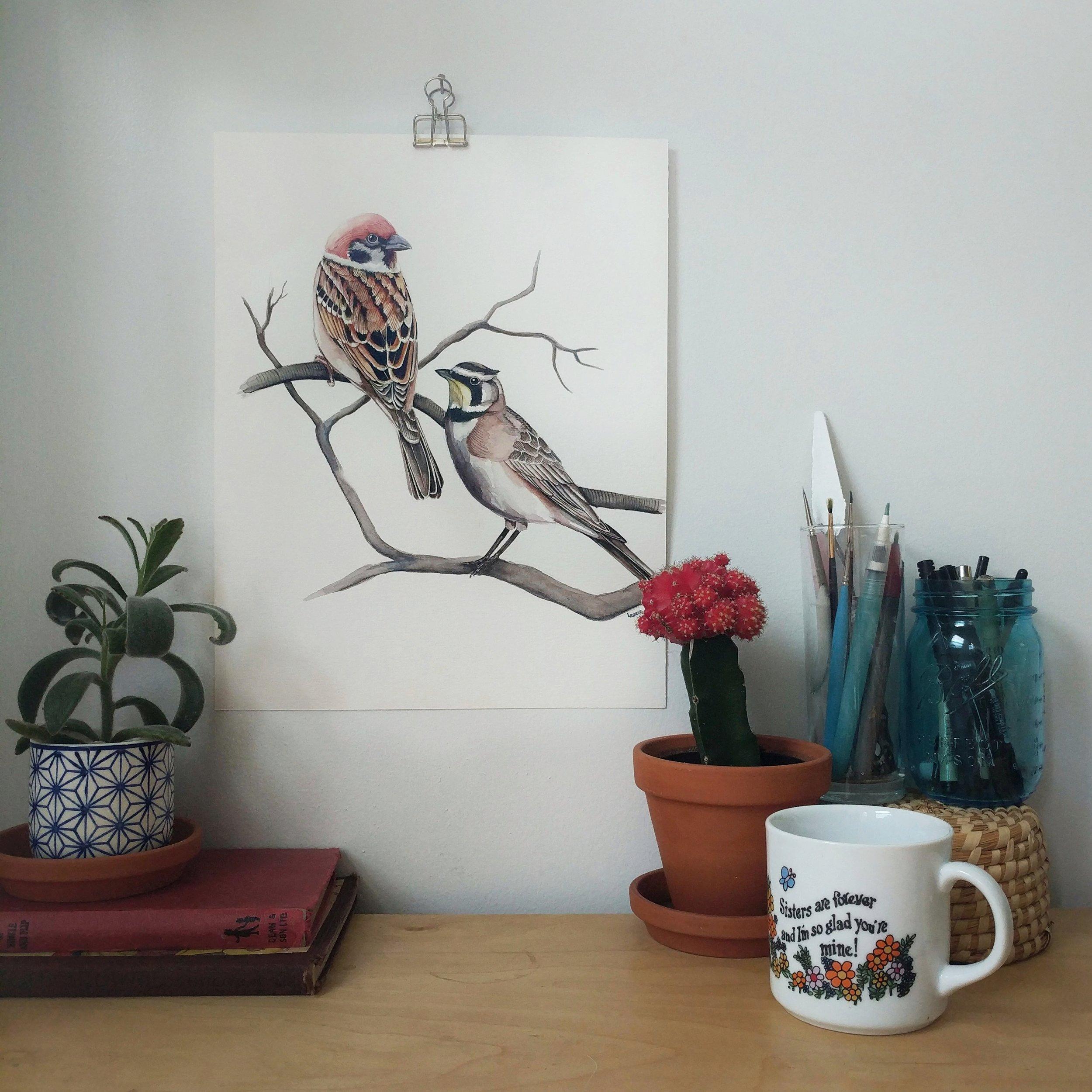 birds watercolor | ampersandmother.com