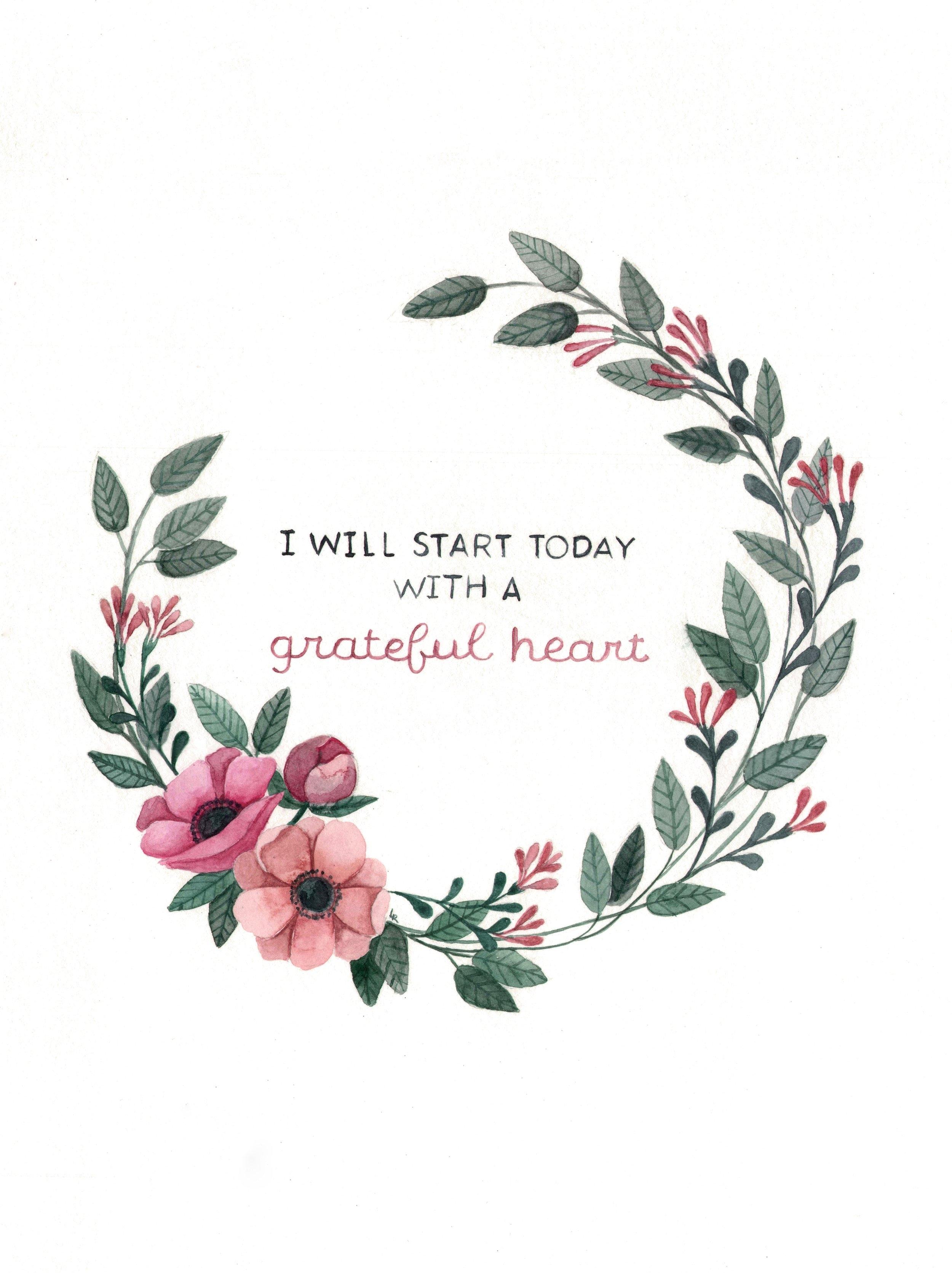 Grateful Heart Watercolor  | ampersandmother.com