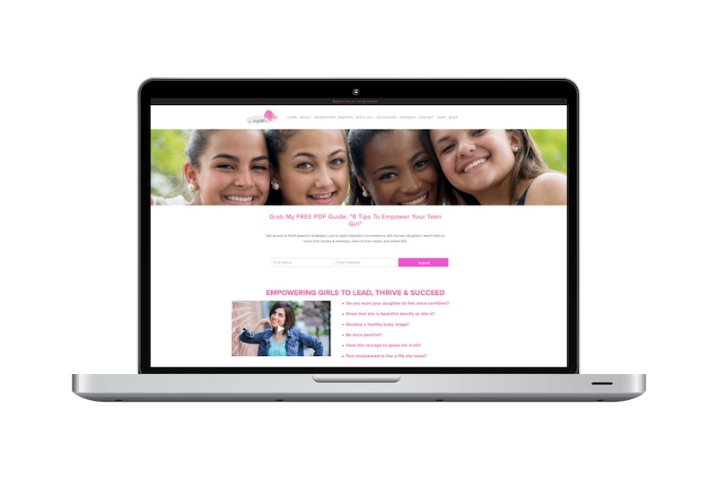 Squarespace Website Design Project - Lessons for my Daughters