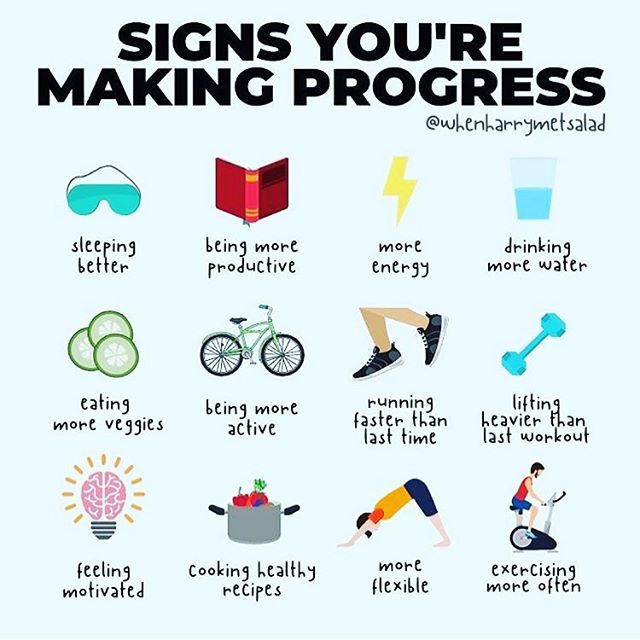 Too focused on the number? There are more signs of progress in your health and fitness journey than the number on the scales decreasing. It can be in the number of reps you can lift 🏋🏻♀️ this week compared to the first week, that you're sleeping 😴 💤 more soundly, or that you are feeling better and happier! All of these factors add up to a healthier and happier you. Go get em' tiger!  #weightloss #progress #happiness #gym #fitnessgym credit to whenharrymetsalad