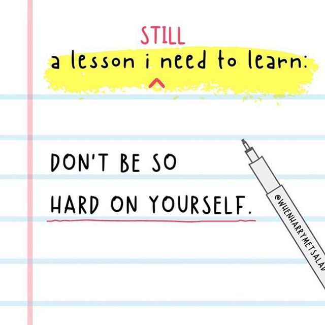 A timely reminder that you shouldn't be so hard on yourself! 💖 We are all on our individual journeys through life. Tread your own path! 🦶  #selflove #reminder #lifelesson #dontbehardonyourself #mentalhealthswareness