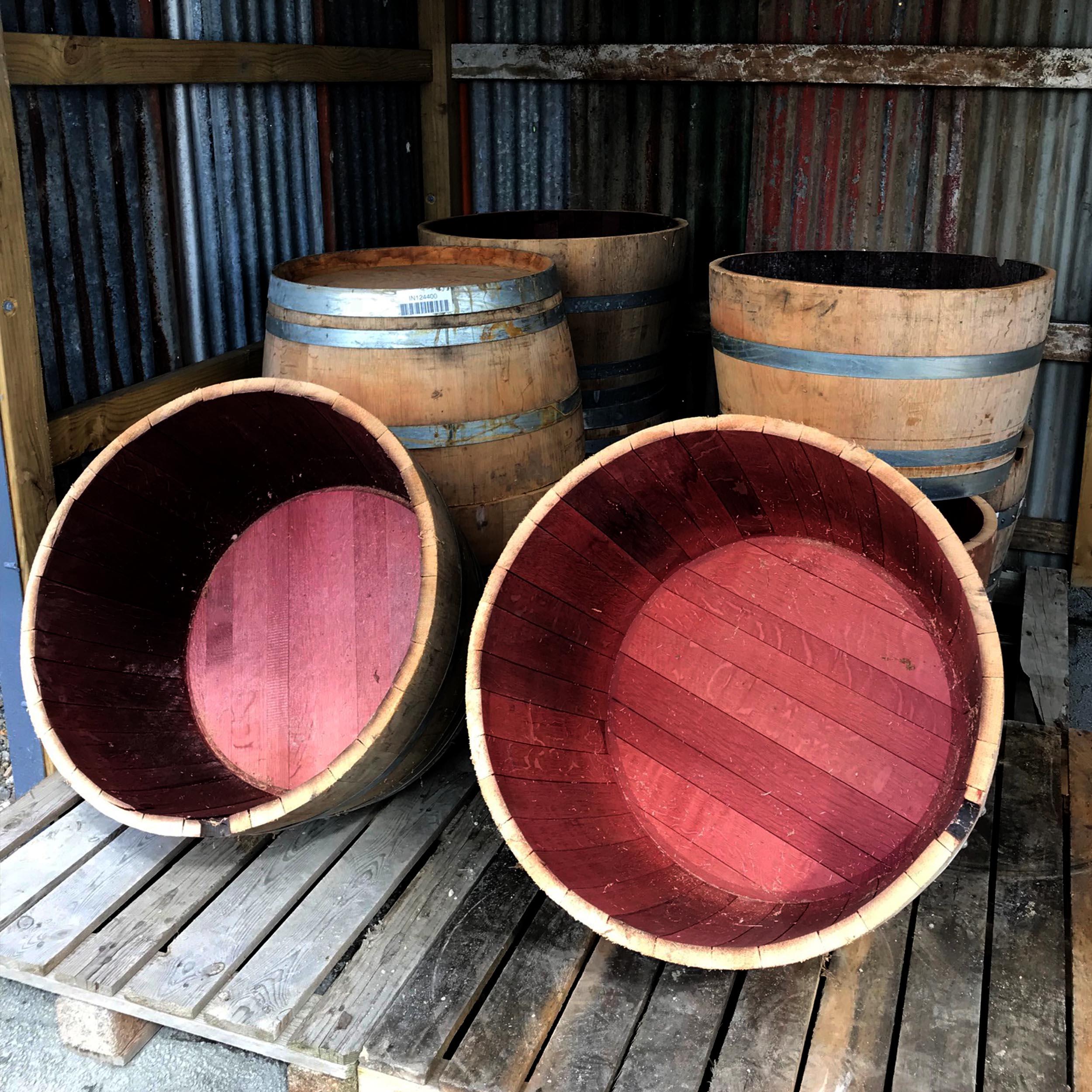 Half Wine Barrels