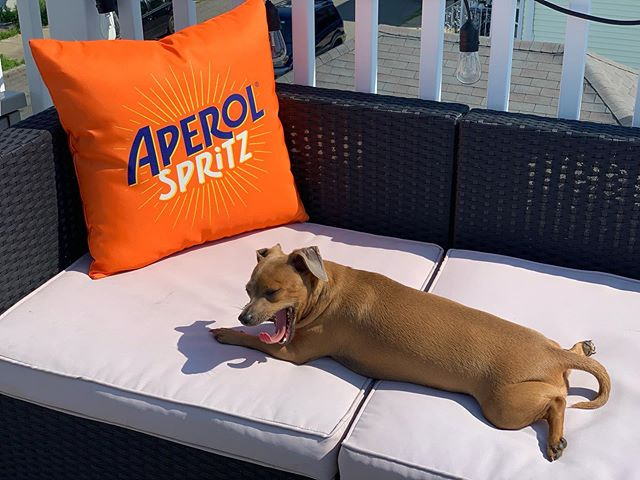 Lounging our way through summer #aperolspritz🍹
