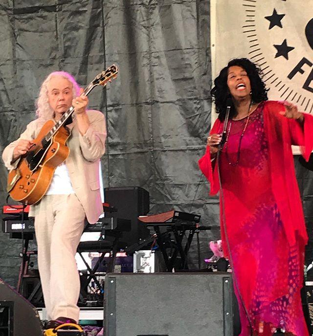 Tuck and Patti at Newport. It's been at least 25 years since I've seen them. Newport always surprises. #tuckandpatti #newportfolkfest #livemusic #festivalseason