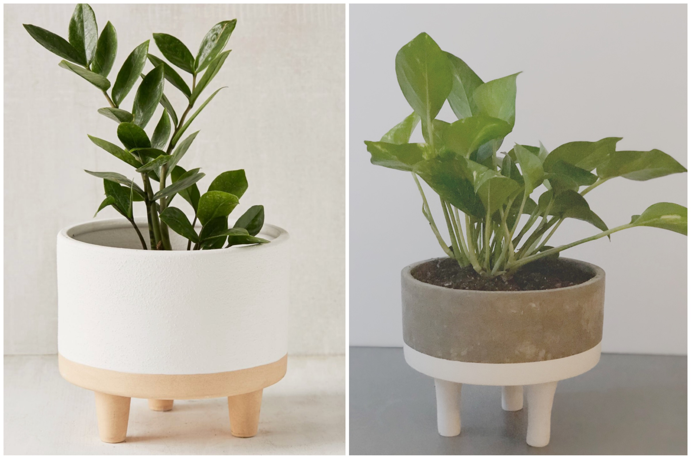 pictured above: the liv planter via  urban outfitters  (L.) my cheaper and cooler DIY version (R.)
