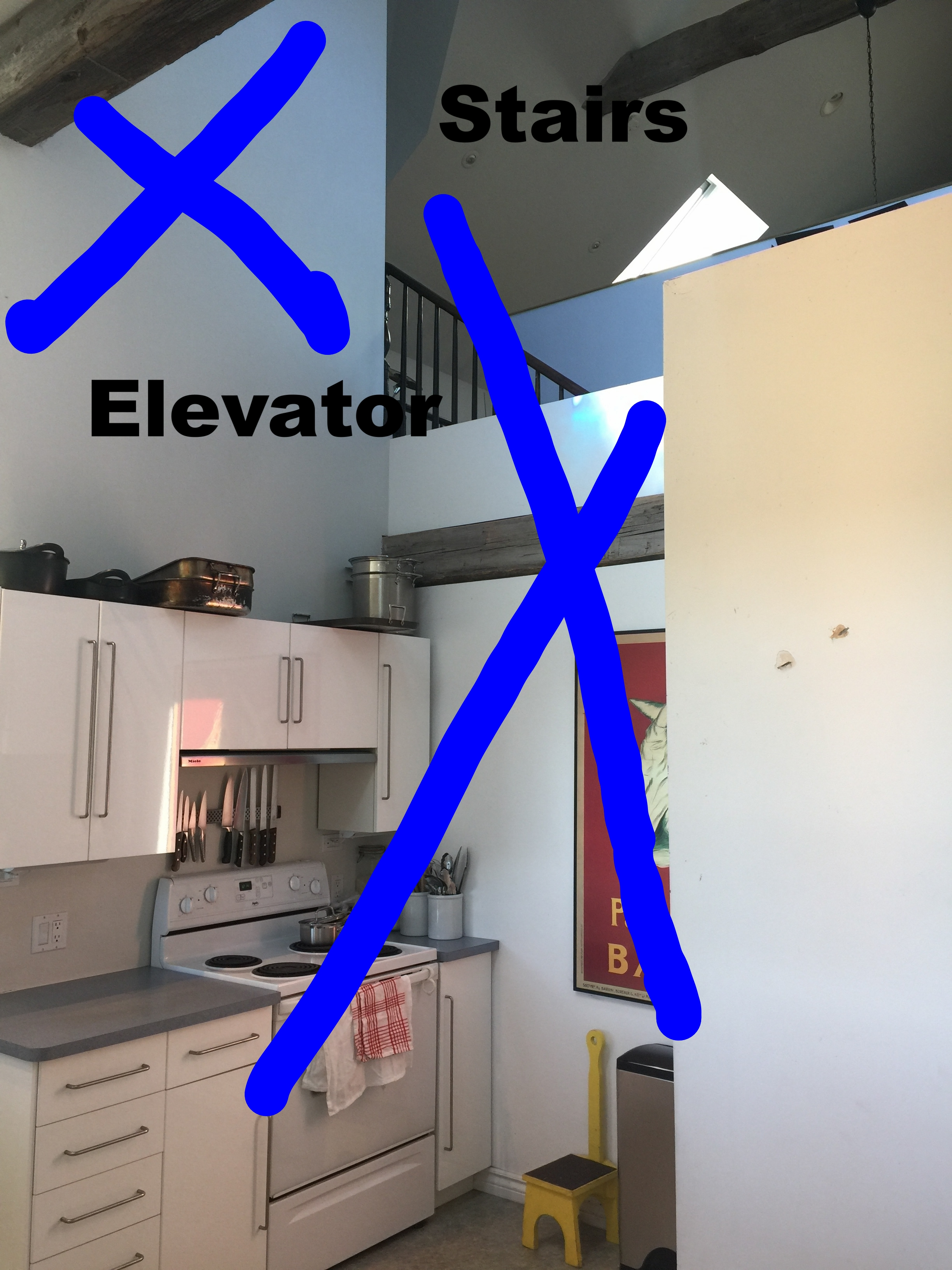 Kitchen Before Stove:Stairs.JPG