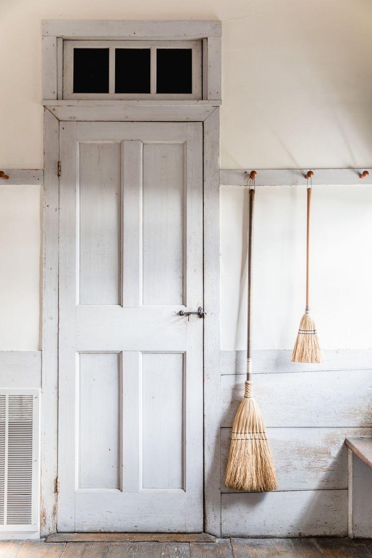 Vintage Peg Board w: Brooms.JPG