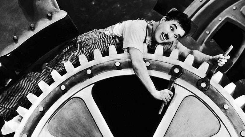 #23) Modern Times - (1936 - dir. Charlie Chaplin)