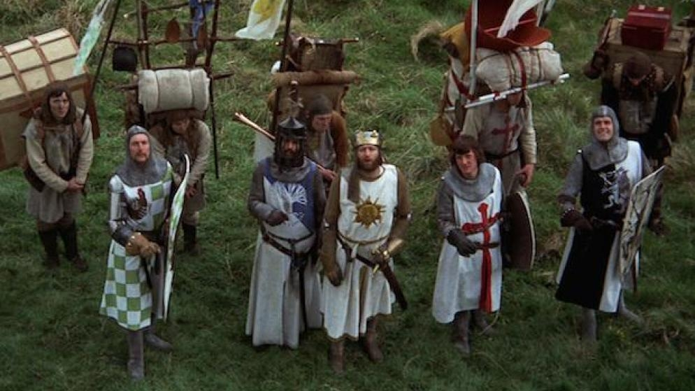 #15) Monty Python and the Holy Grail - (1975 - dir. Terry Gilliam)