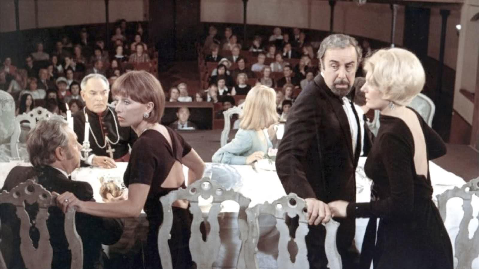 #97) The Discreet Charm of the Bourgeoisie - (1972 - dir. Luis Buñuel)