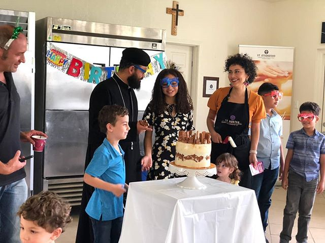 Amazing day at church today:  Happy birthday to Sophia and Sandor. Special thanks to Sally @thecakemd for an amazing cake. Thanks to all who worked so hard throughout the week to put together the iconstasis and worked on the Bethlehem room.  God bless.  #stathanasiusorlando #birthdays #iconstasis #thankyou