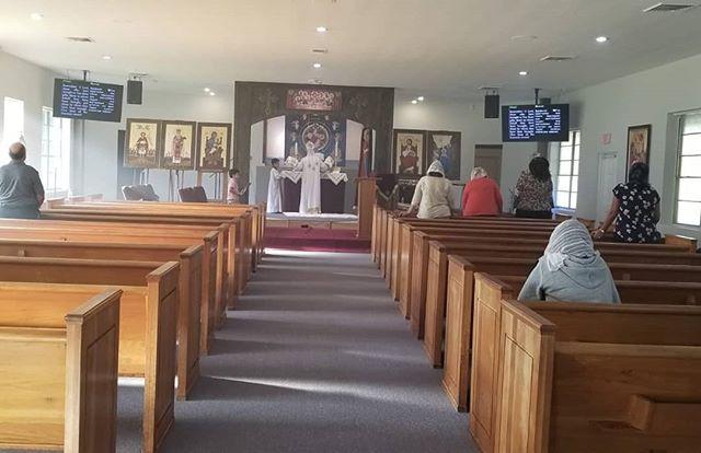 Our first weekday liturgy took place today to celebrate Fr. Maurice's Priesthood Ordination Anniversary.  #weekdayliturgy #stathanasiusorlando #oct1stpriesthoodanniversary