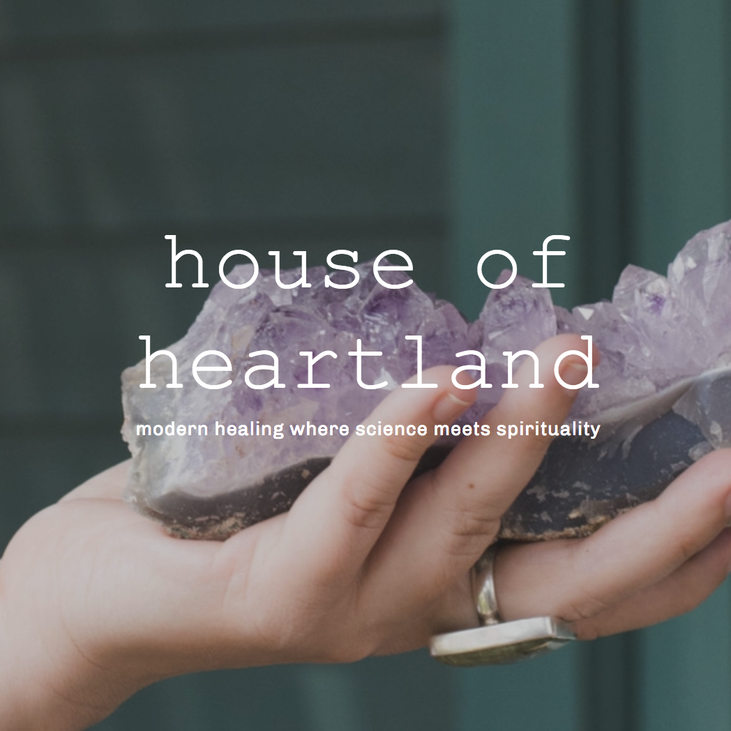 House of Heartland - A curated selection of botanical oil compositions for body, gemstone essences for meditation and a journal of wellbeing + metaphysical materials.