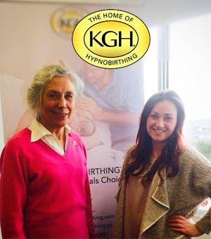 Lisa with Katharine Graves, founder of KG Hypnobirthing