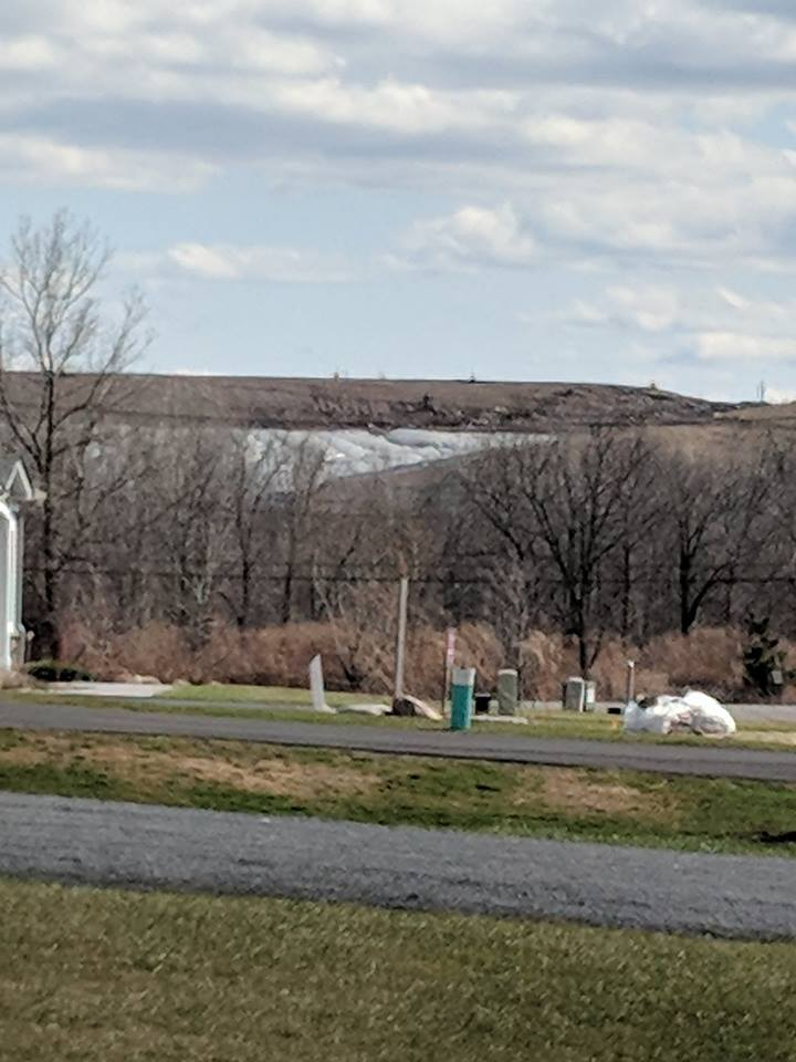 Photo of the north side of the the landfill taken 04/02/2018