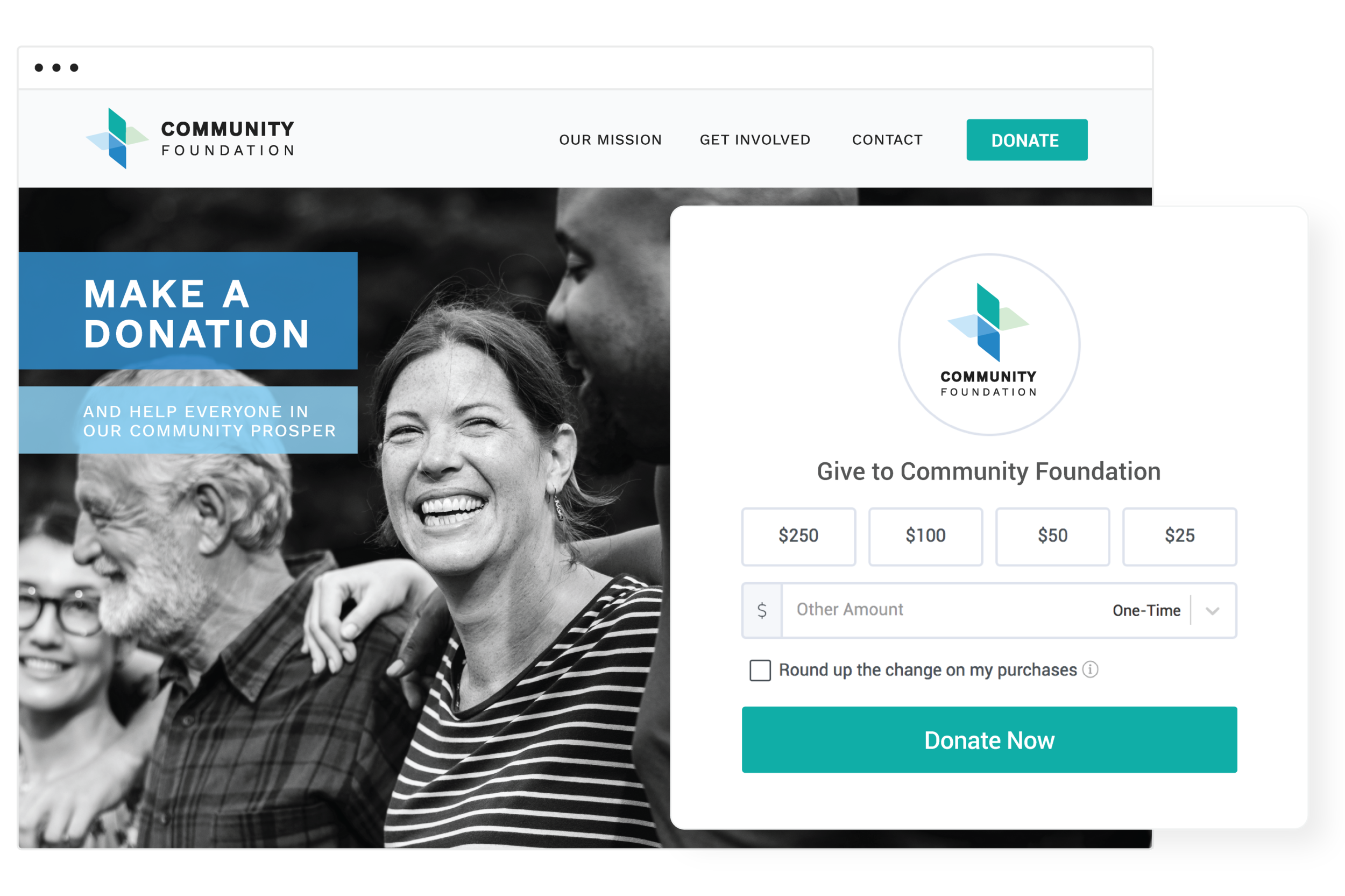Collect donations on your website - Convert those frequent visitors into supporters with a donation form that's easy to embed anywhere on your site. Our form works on modern website platforms like Squarespace, Wordpress and Wix.