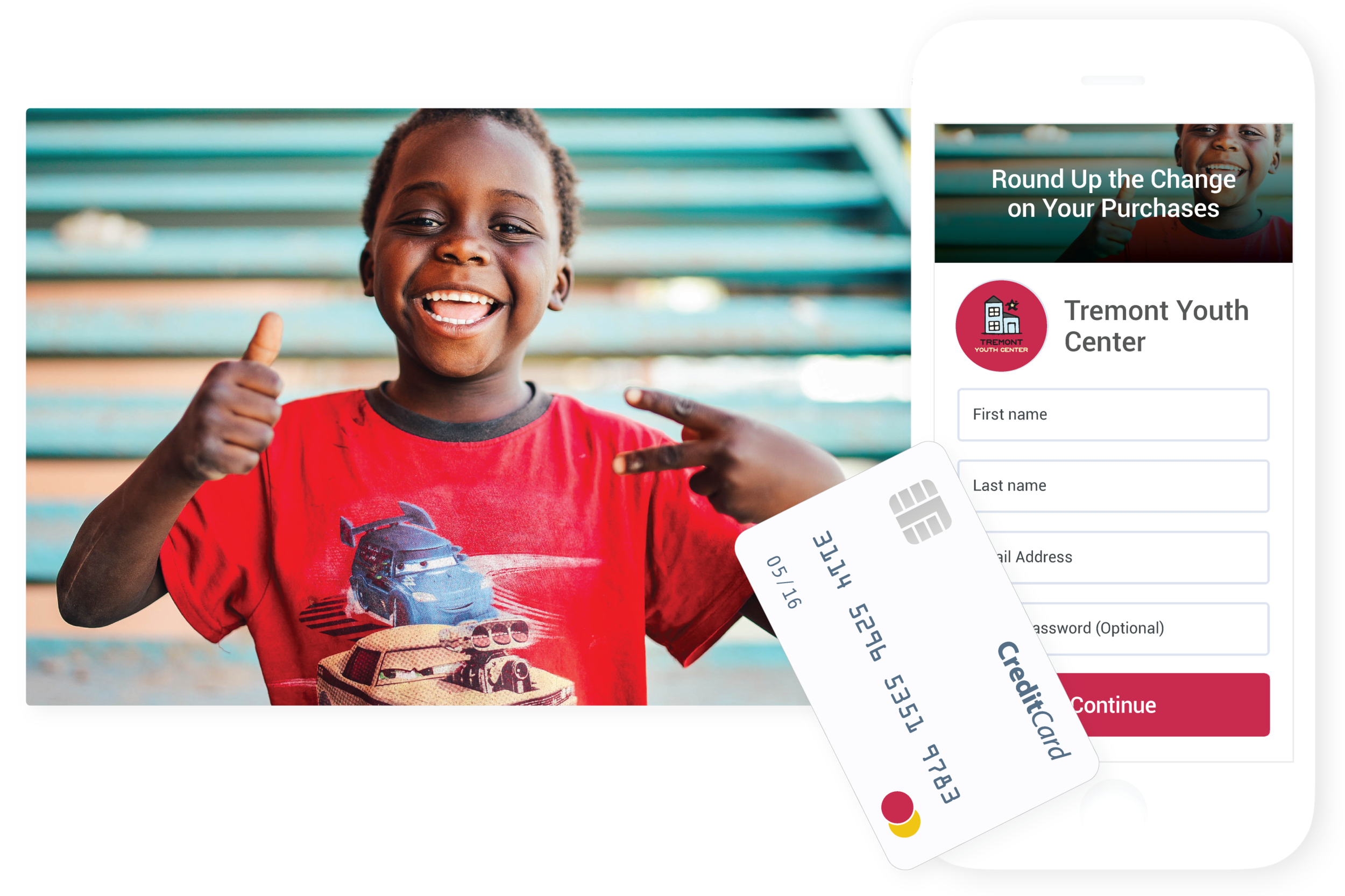 Spare Change - Invite donors to round up on their everyday purchases and donate the digital spare change