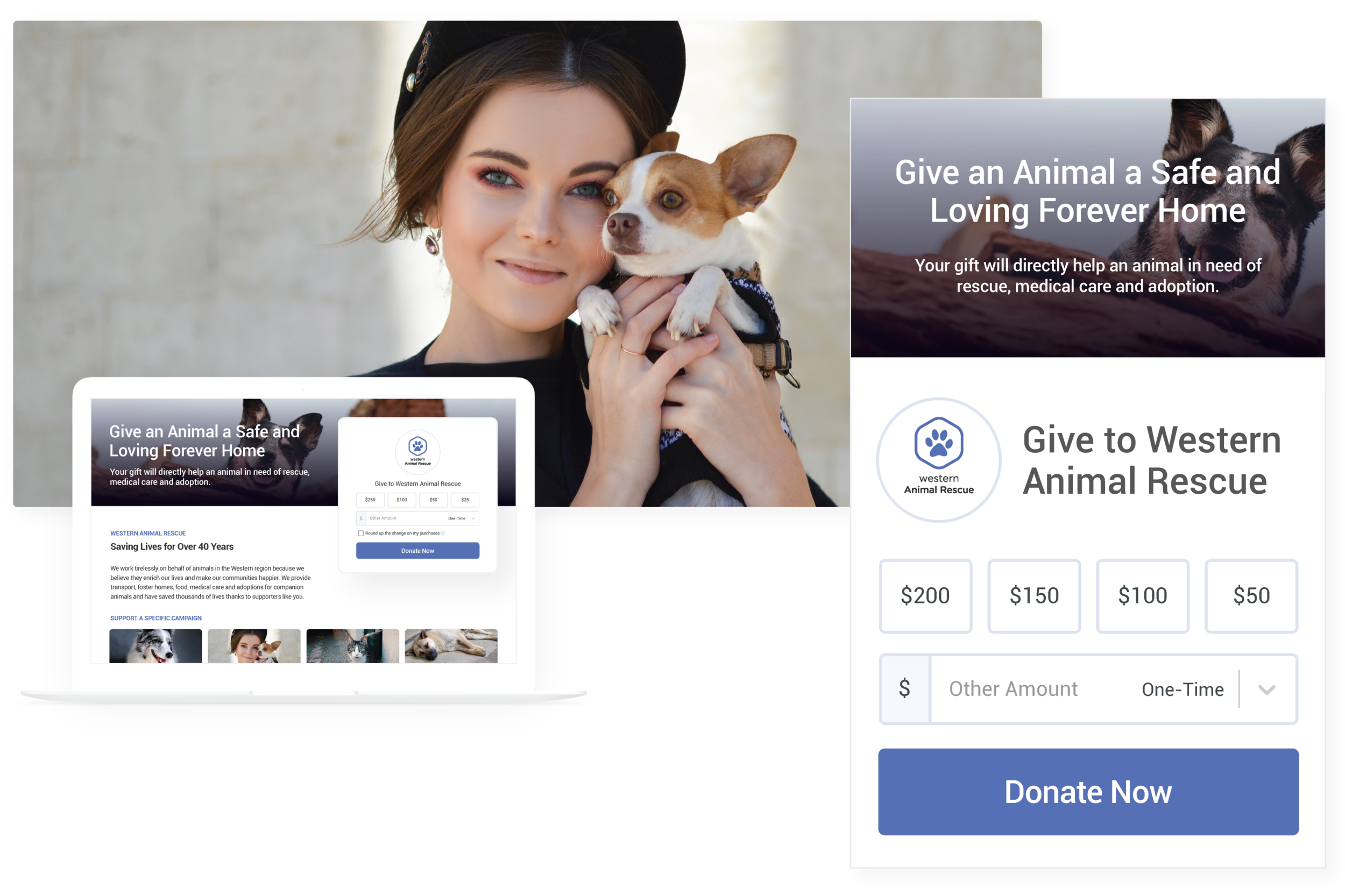 Giving Pages - Create modern fundraising pages for your campaigns, events or chapters.
