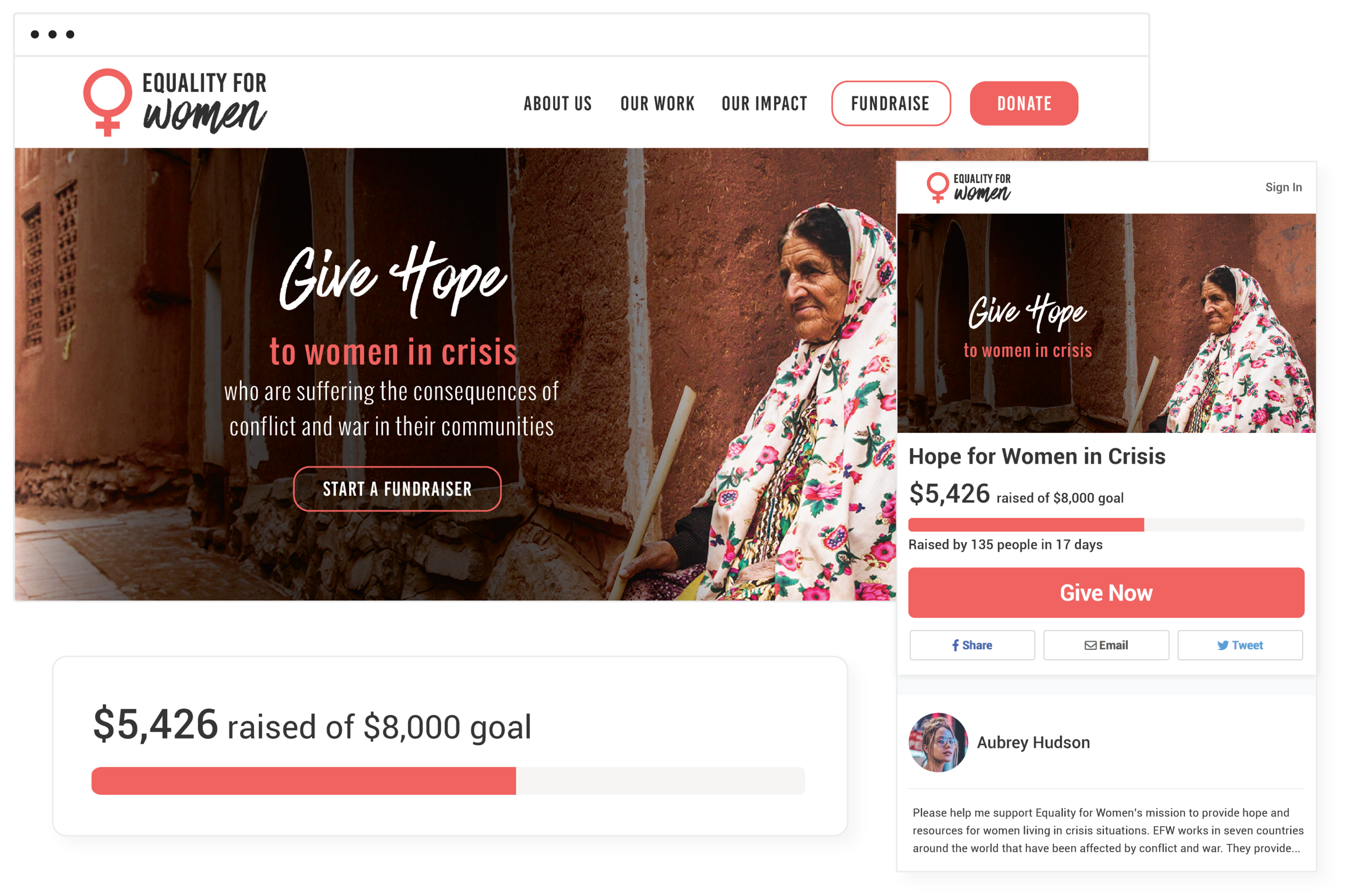 Empower your people - Mobilize supporters who are passionate about your cause with peer-to-peer fundraising pages they can launch with a few clicks.