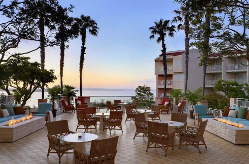 Relax after the baby is asleep on your private balcony or on the Loews Coronado Bay Resort terrace.