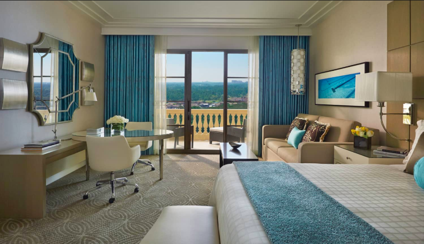 Golden Oak View Room at Four Seasons Orlando at Walt Disney World, one of  Ruby Rosen 's preferred partners, offering exclusive amenities.