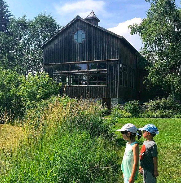 Grange of Prince Edward County Vineyards & Estate Winery offers board games, picnic basket lunches for sale, and beautiful grounds for kids to explore. Image credit:  @faye_moxam