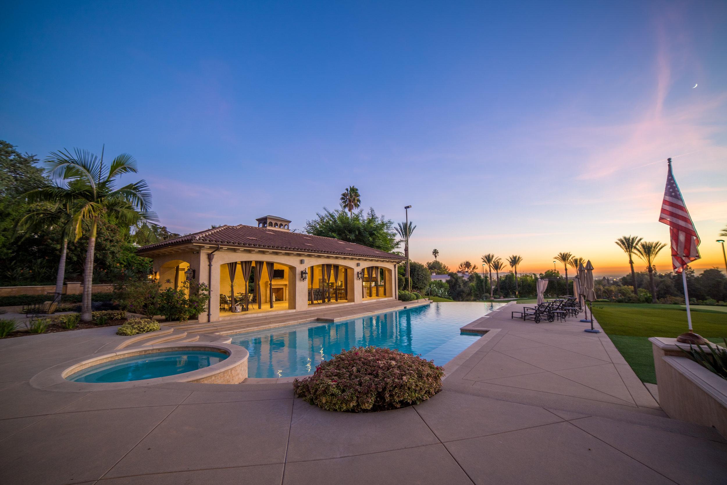 Real Estate Photography of Backyard Pool