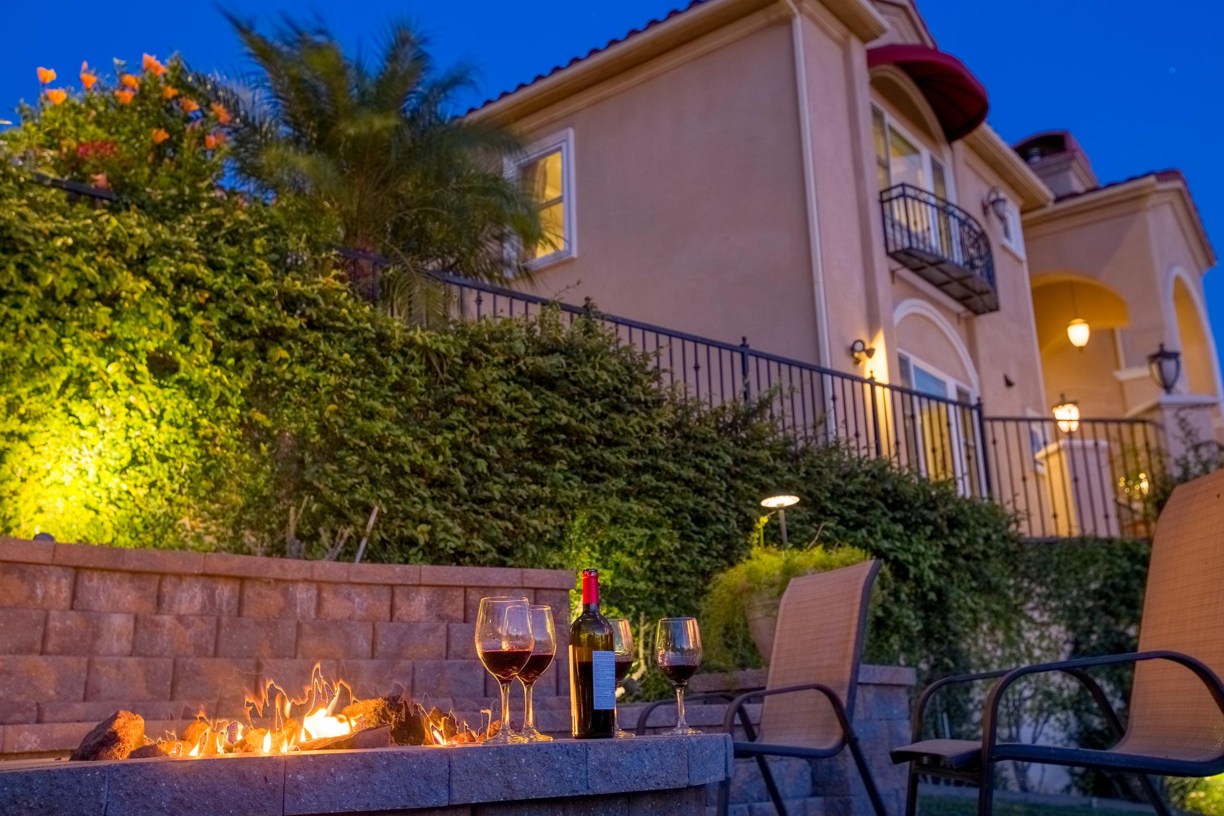 Real Estate Photography of Backyard Patio