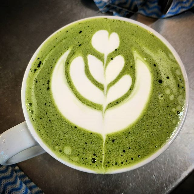 Matcha lattes make for the best after-dinner drink