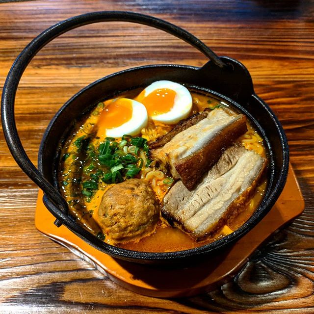 Escape the cold with our spicy pork ramen 😊🌡️
