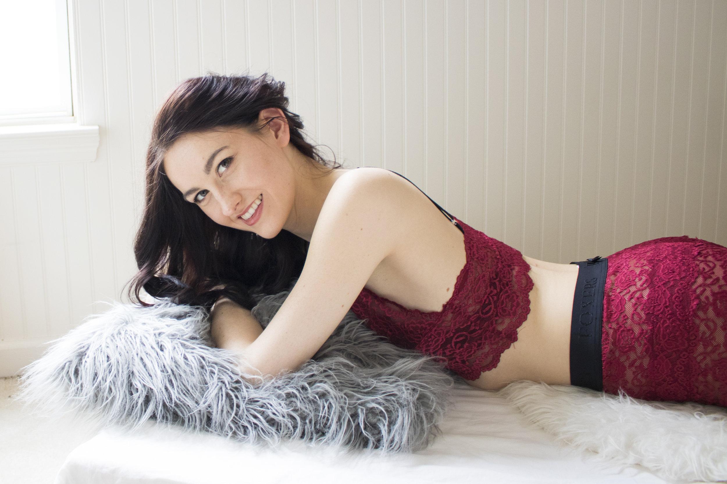 Black Cherry Lace Bralette ( $32 )