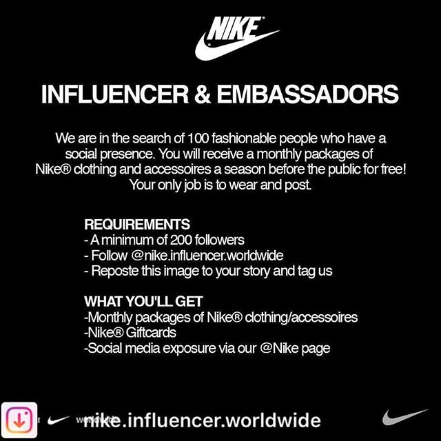 @nike.influencer.worldwide I am ready for something like this. Not only being a Nike Endorsed Athlete but the additional responsibility of leading. Just do it! Include my fami-team @godfamself @iammikebeasley 🙏🏾🙏🏾🙏🏾