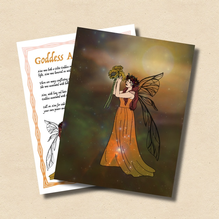 For more information on the Goddess Aine, read our  Litha issue of Witchology Magazine.