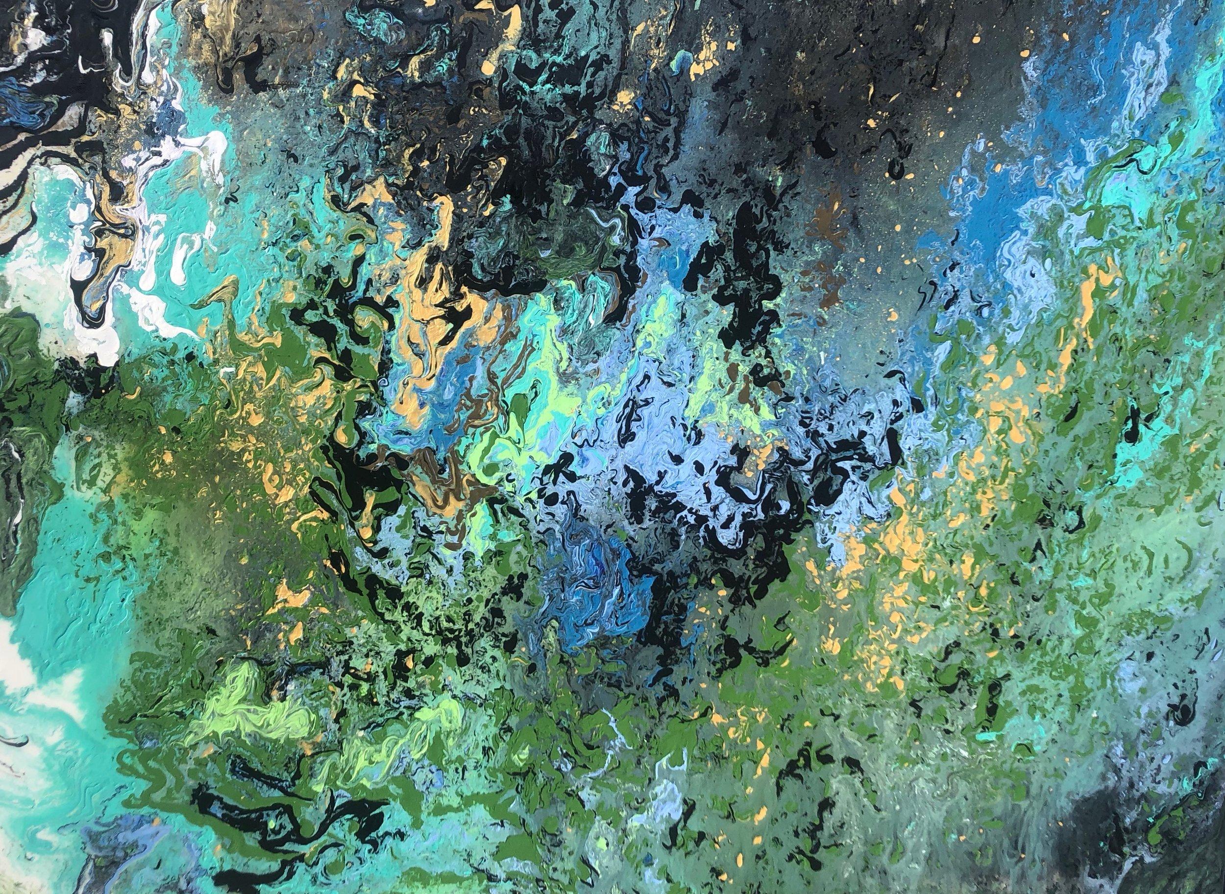 """""""Rainforest"""" - Mixed Media on Canvas - 30"""" x 40"""""""