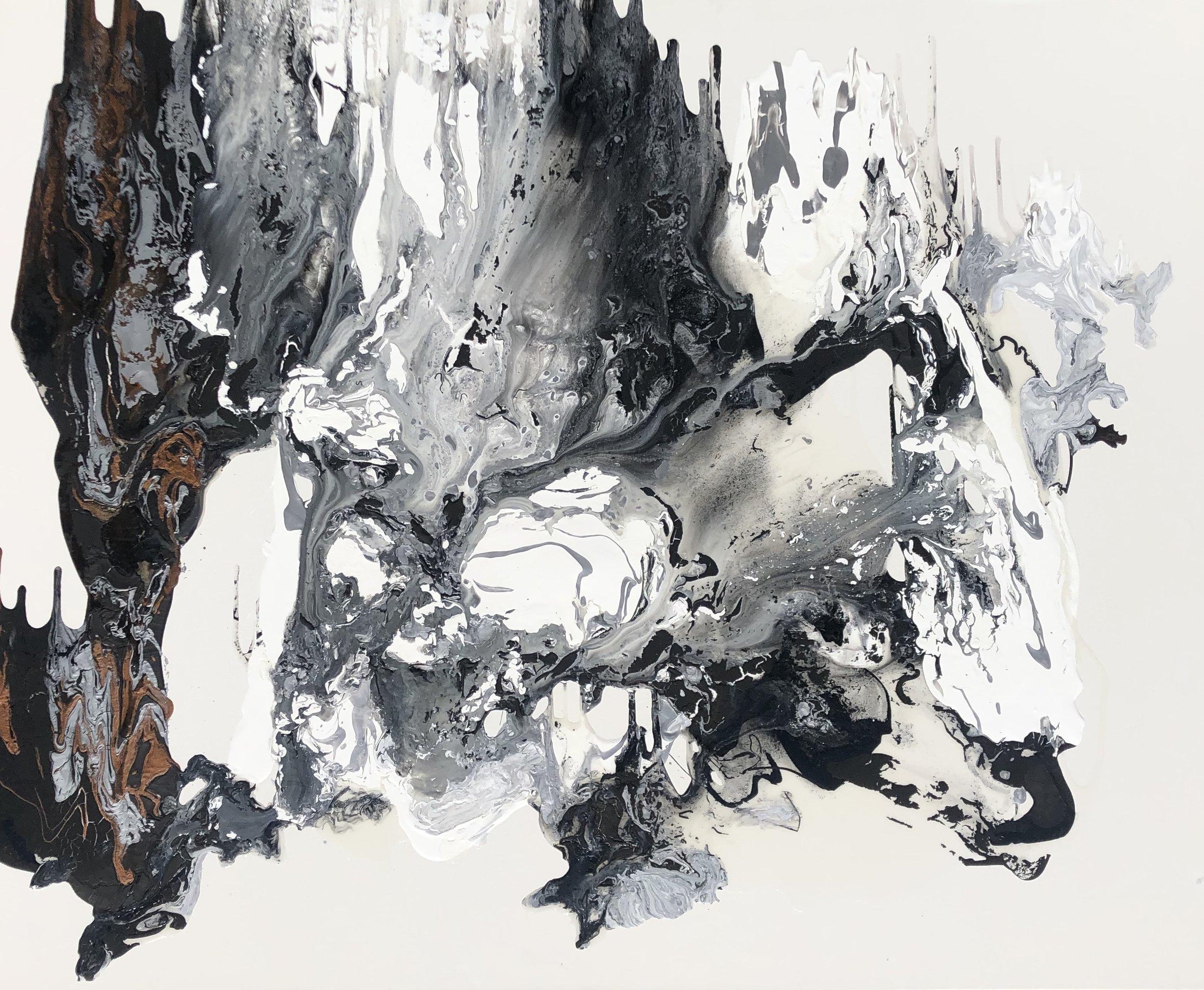 """""""Everest"""" - Mixed Media on Canvas - 48"""" x 60"""""""