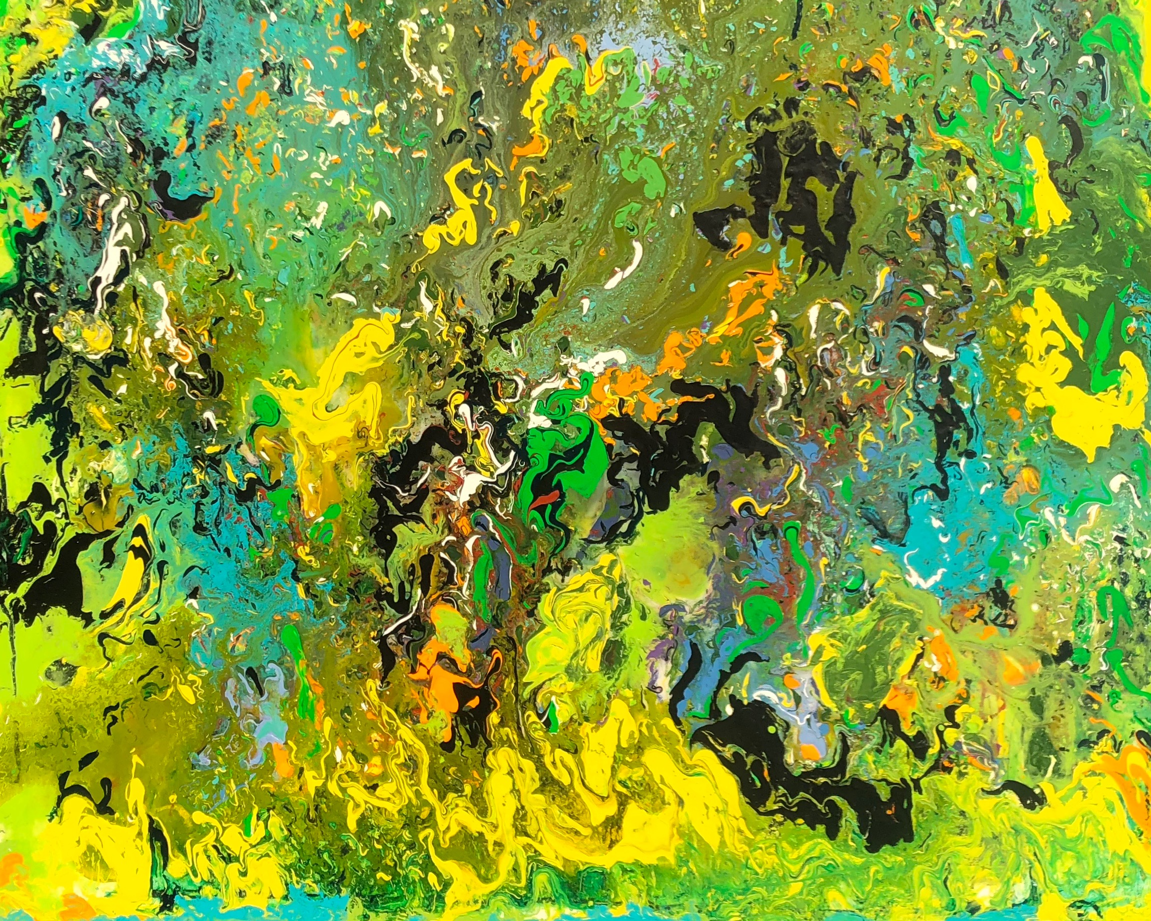 """""""Spirits in the Forest"""" - Mixed Media on Canvas - 48"""" x 60"""""""