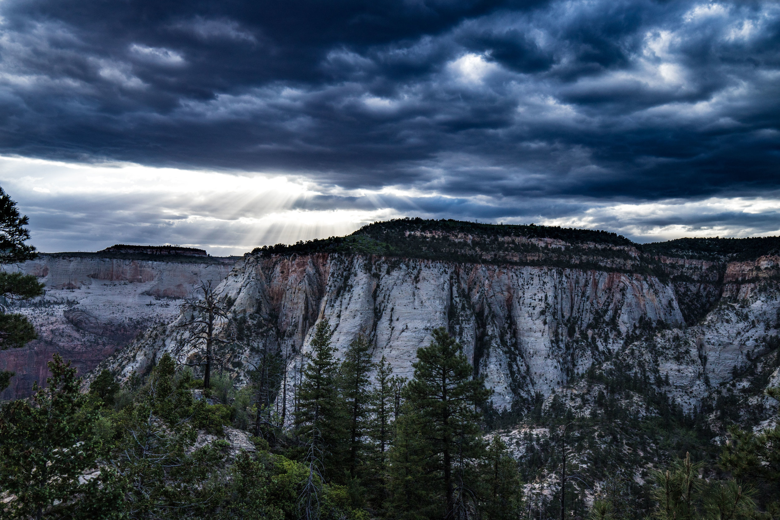 Storm Clouds over Zion East Rim