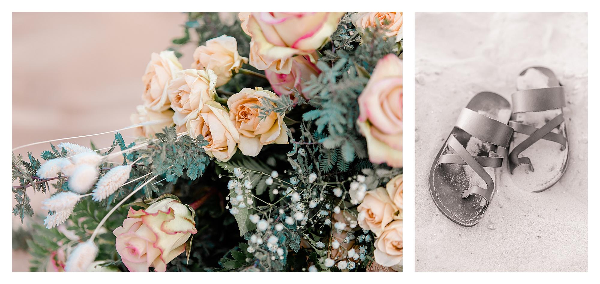 Sand Dunes Bridal Shoot Southern California Wedding Elopement Elope Florals Bouquet