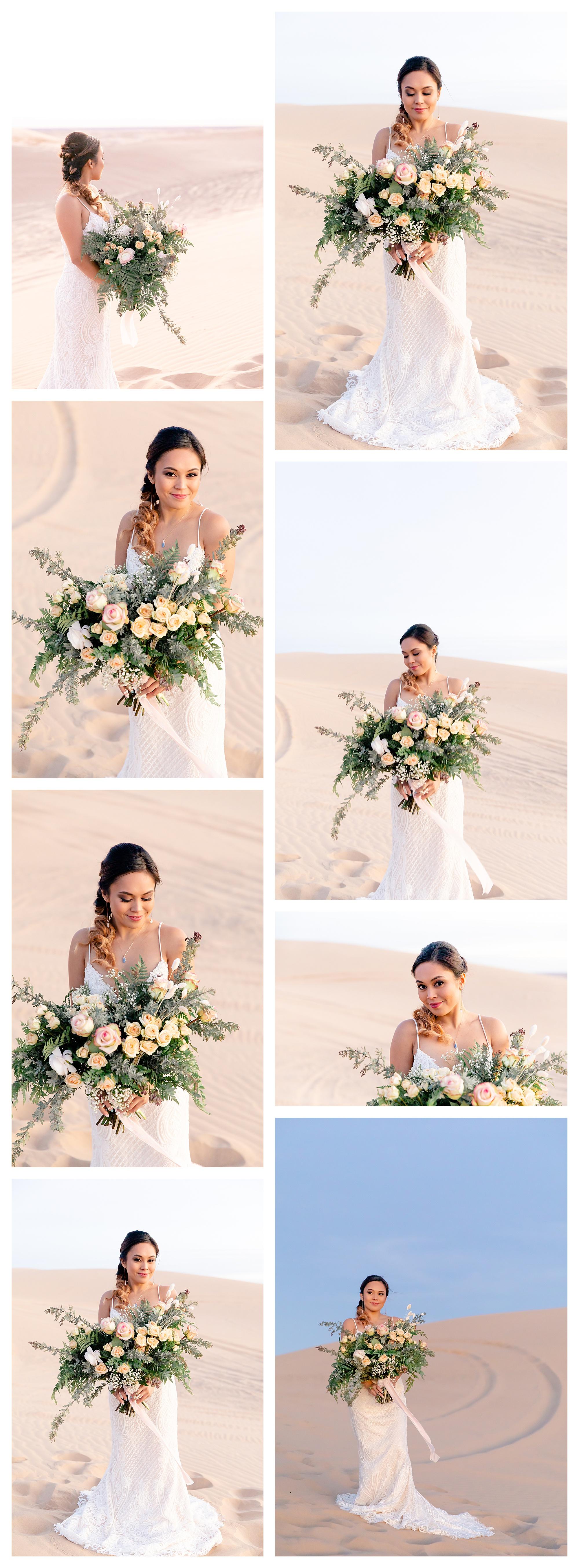 Sand Dunes Bridal Shoot Southern California Wedding Elopement Elope