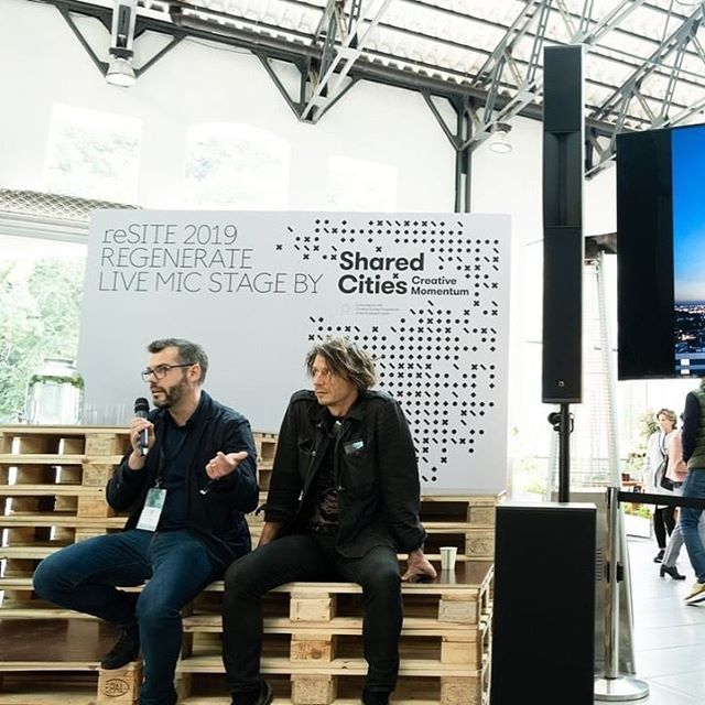 Posted @withrepost • @resite_ A big moment for @blacknarch on the #reSITE2019 Live Mic Stage yesterday. Czech sculptor @cerny.david and architect Tomáš Císař @tcisar , along with @trigema_as unveiled their proposed project - the Top Tower. How does this fit into #REGENERATE? The design of the building is intended to evoke post-apocalyptic scenes, reminiscent of the environmental threats facing humanity in the context of global warming. We are excited to see the conversations this project will stimulate.  . . . . . #blacknarch #czechdesign #greencities #sustainability #climatechange #earthfriendly #ecofriendly #sustainableliving #qualityoflife #citylife #urbanlife #urbanism #futurecities #bettercities #urbanization #architectureporn #citymakers #designthefuture #futureisurban #carbonneutral #urbangarden #urbanjungle #livingbuilding #smartcity #smartcities #praha #climatecrisis #climatechange  