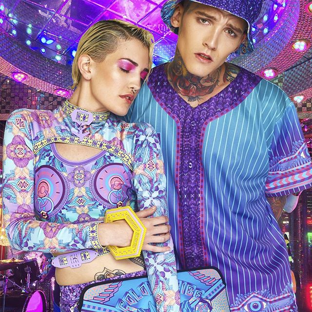 ⚡🔥So much sass with @joshdeaneofficial  and @bbycobra in our Logic Lattice collection! 🔥⚡#nxk #nixikillick #colourtribe #seapunk #kawaii