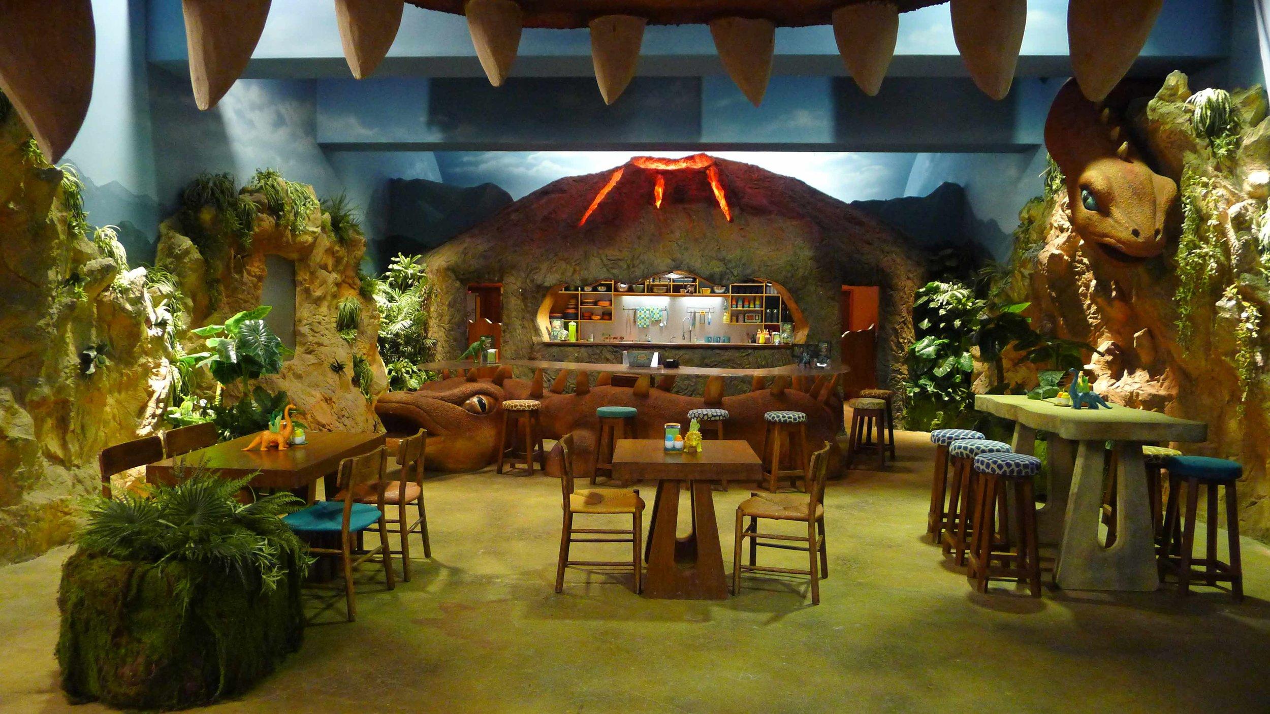 View of Dino Bite Cafe set