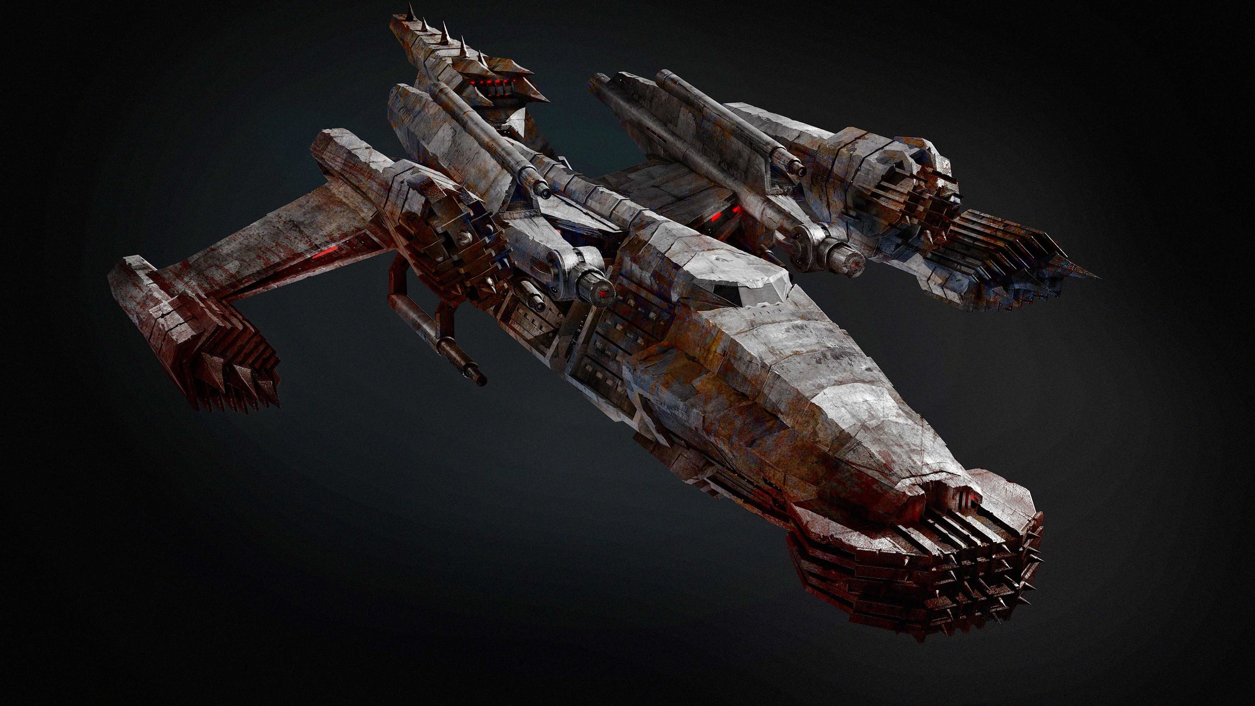 Sledge Ship - Concept sketch for VFX