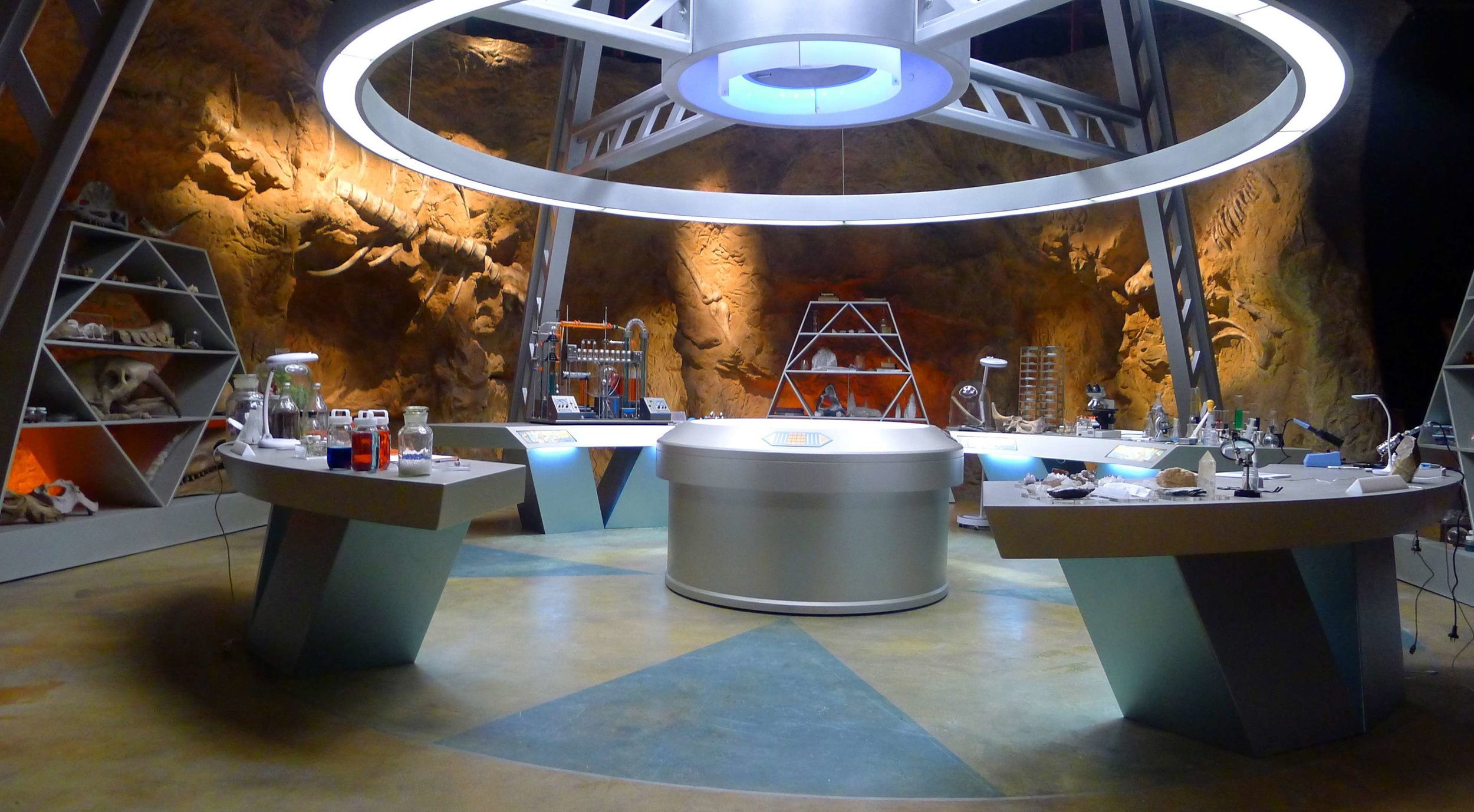 View of the Power Ranger Base