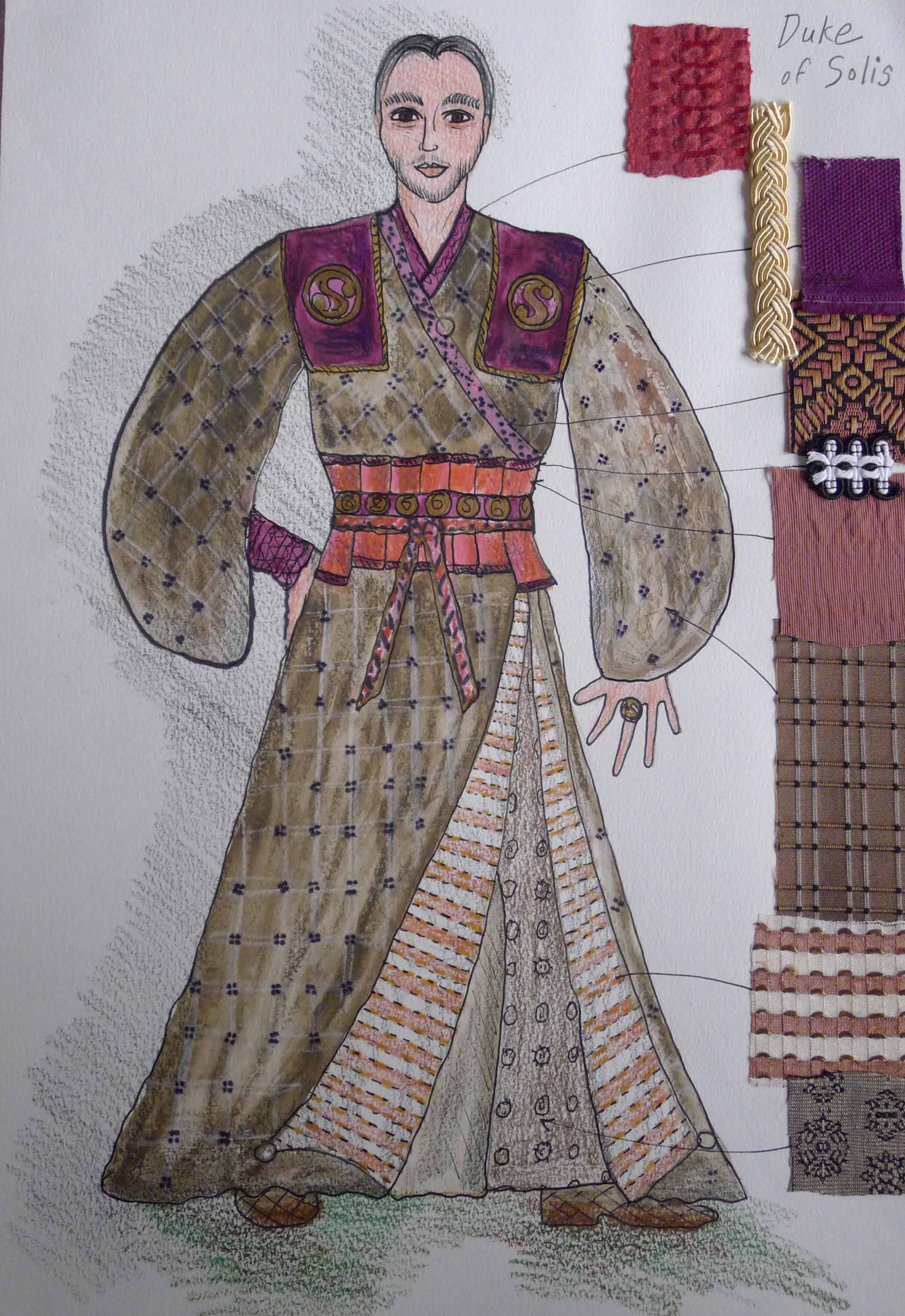 The Duke of Solis costume sketch