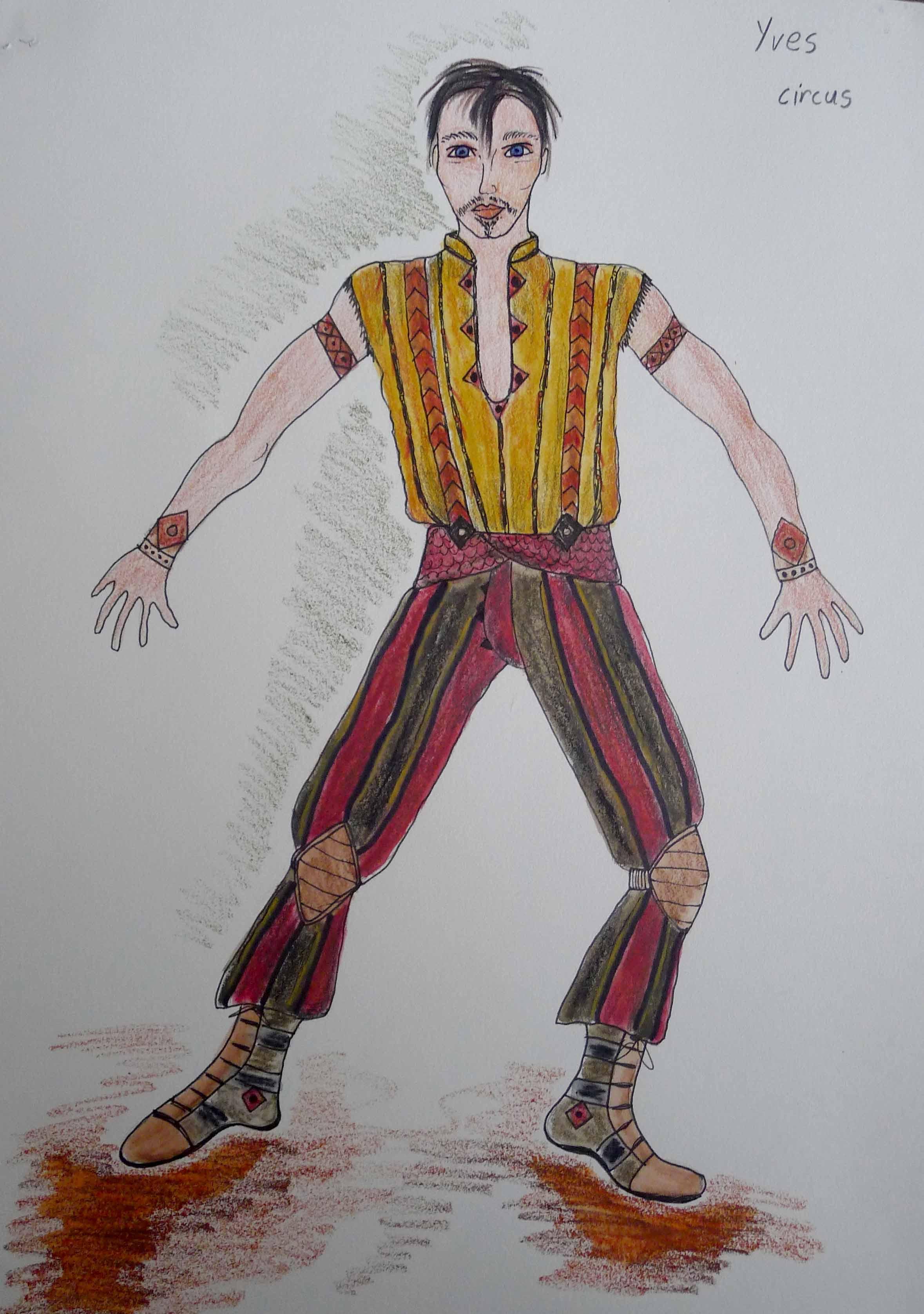 Yve in circus costume