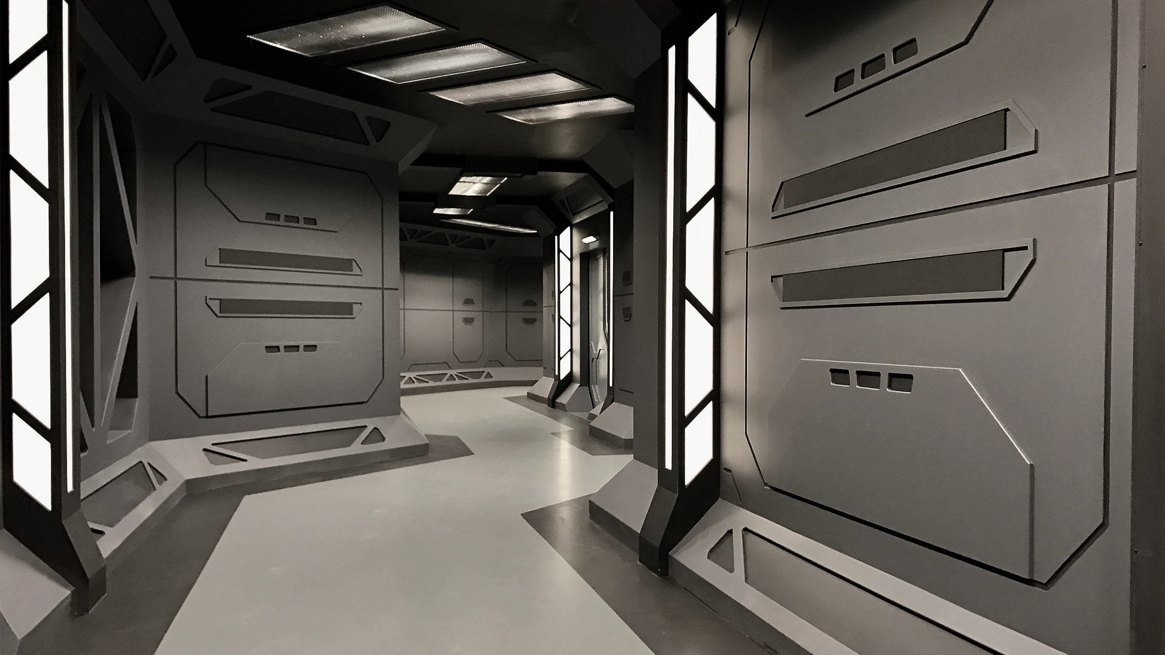 GB Hallway - Set dressing view