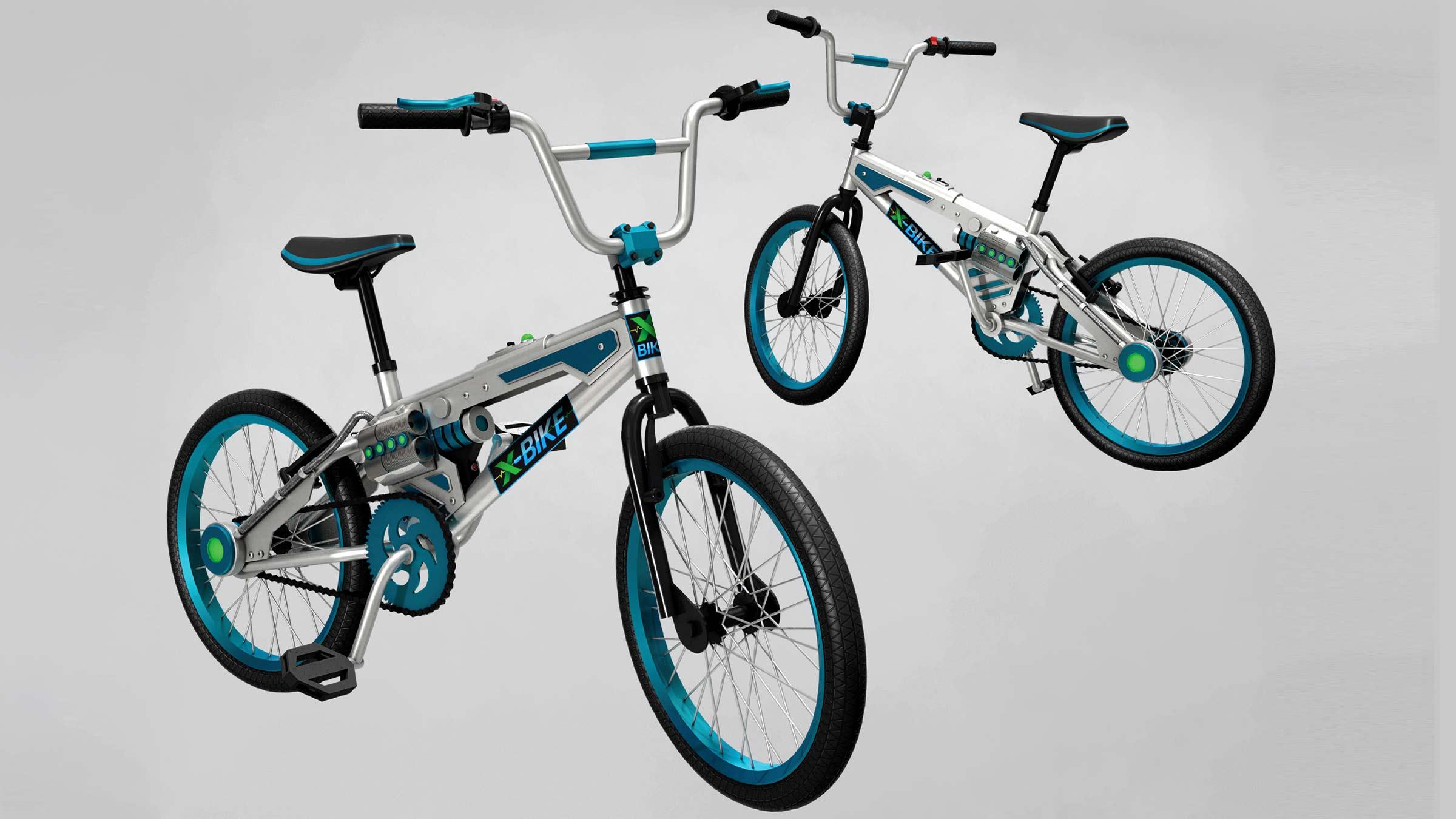 X-Bike Prop Design - Concept sketch views