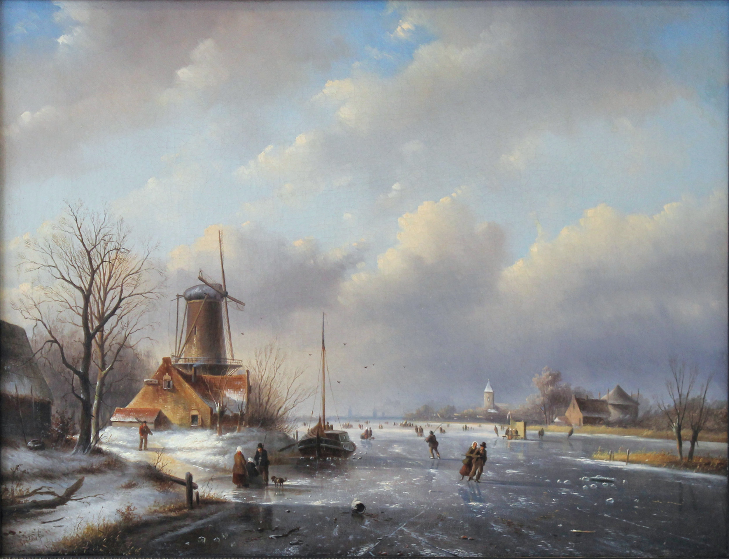 Conservation et restauration de tableaux et peintures sur toile, Bruxelles. Toile restaurée et réparée.JPG